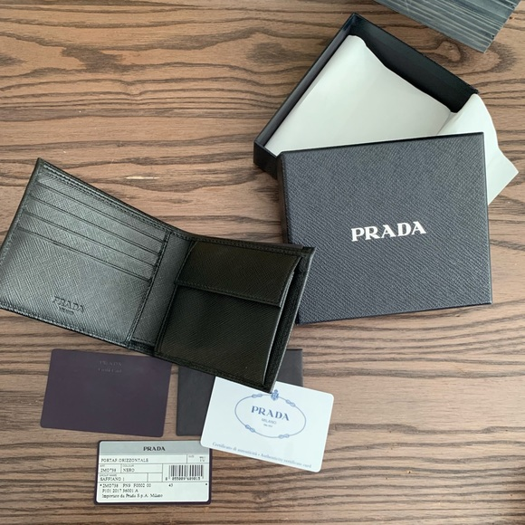 37515e194619 Prada Bags | Mens Leather Bifold Wallet With Coin Pouch | Poshmark